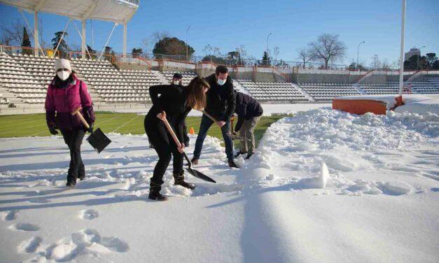 Un total de 33 instalaciones deportivas de Madrid están afectadas por la borrasca Filomena