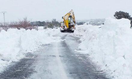 El 71 por ciento de la Red de Carreteras de Castilla la Mancha está afectada por la nieve y el hielo que está dejando la borrasca 'Filomena'